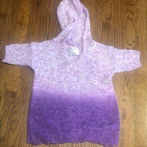 Justice girls short sleeve sweater